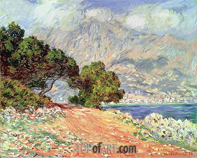 Menton Seen from Cap Martin, 1884 | Monet | Gemälde Reproduktion