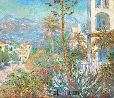 Villas at Bordighera, 1884 | Monet | Gemälde Reproduktion