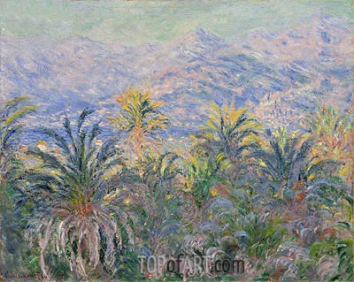 Palm Trees at Bordighera, 1884 | Monet | Painting Reproduction