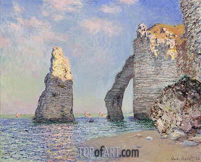 The Cliffs at Etretat, 1885 | Monet | Painting Reproduction
