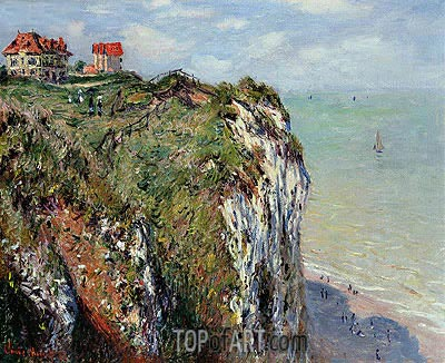The Cliff at Dieppe, 1882 | Monet | Gemälde Reproduktion