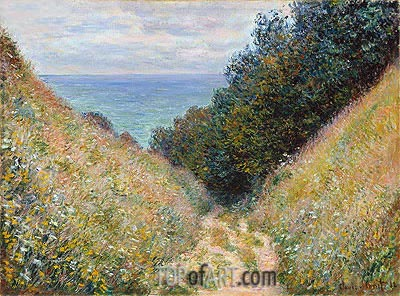 Road at La Cavee, Pourville, 1882 | Monet| Painting Reproduction