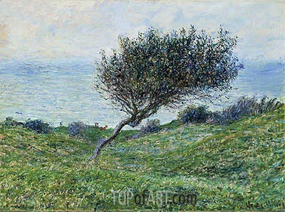 Sea Coast at Trouville, 1881 | Monet | Gemälde Reproduktion