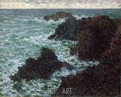 The Rocks at Belle-Ile, the Wild Coast, 1886 | Monet | Gemälde Reproduktion