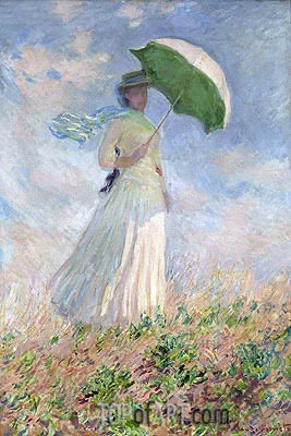 Woman with a Parasol Facing Right, 1886 | Monet| Painting Reproduction