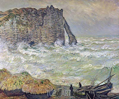 Etretat, Rough Sea, 1883 | Monet| Gemälde Reproduktion