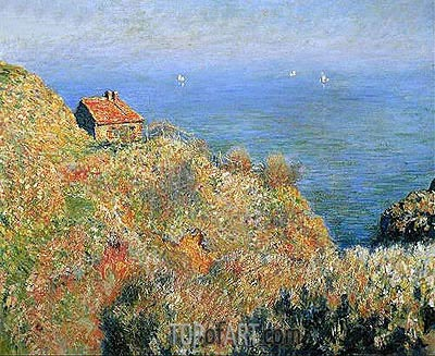 The Fisherman's House at Varengeville, 1882 | Monet| Painting Reproduction