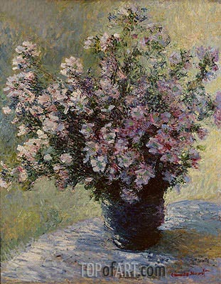 Bouquet of Mallows (Vase of Flowers), c.1881/82 | Monet| Painting Reproduction