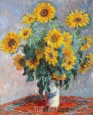 Bouquet of Sunflowers, 1881 | Monet | Gemälde Reproduktion