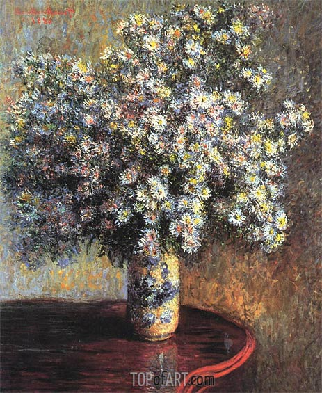 Asters, 1880 | Monet | Painting Reproduction