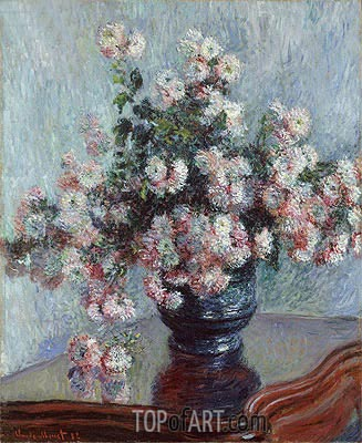 Chrysanthemums, 1882 | Monet | Gemälde Reproduktion