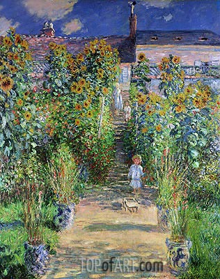 Monet | The Artist's Garden at Vetheuil, 1880