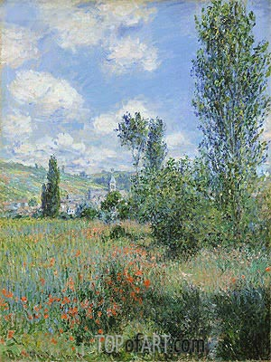 View of Vetheuil, 1880 | Monet | Painting Reproduction