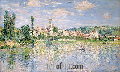 Vetheuil in Summer, 1880 | Monet | Gemälde Reproduktion