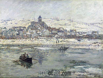 Vetheuil in Winter, c.1878/79 | Monet | Painting Reproduction