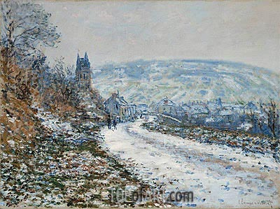 Entrance to the Village of Vetheuil in Winter, 1879 | Monet | Gemälde Reproduktion