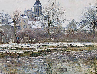 The Church at Vetheuil, Snow, c.1878/79 | Monet | Painting Reproduction