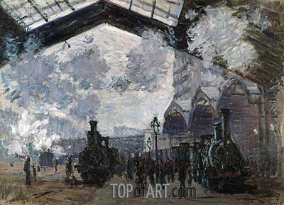 The Gare St-Lazare, 1877 | Monet| Painting Reproduction