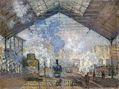 The Saint Lazare Station, 1877 | Monet | Painting Reproduction