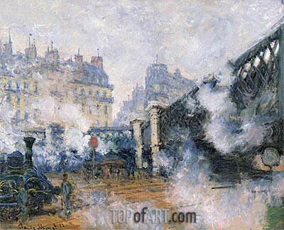 The Pont de l'Europe, Saint Lazare Station, 1877 | Monet| Gemälde Reproduktion