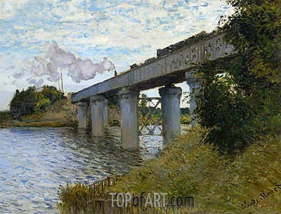 The Railway Bridge at Argenteuil, c.1873/74 | Monet| Painting Reproduction