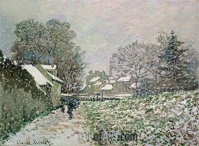 Snow at Argenteuil, c.1874/75 | Monet | Gemälde Reproduktion
