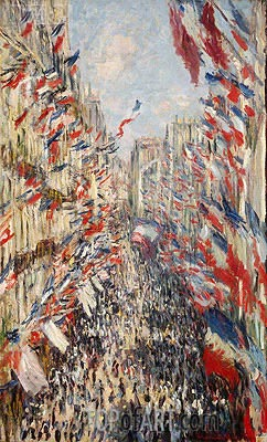 The Rue Montorgueil, Paris, Celebration of June 30, 1878 | Monet| Gemälde Reproduktion