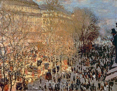 The Boulevard des Capucines, 1873 | Monet| Gemälde Reproduktion