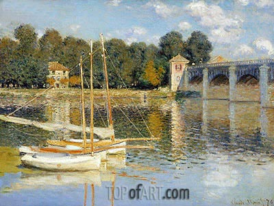 The Bridge at Argenteuil, 1874 | Monet | Gemälde Reproduktion