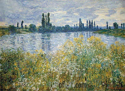 Banks of the Seine, Vetheuil, 1880 | Monet | Painting Reproduction