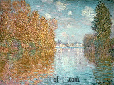 Autumn Effect at Argenteuil, 1873 | Monet | Painting Reproduction