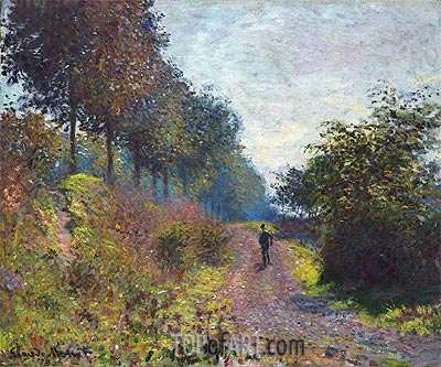 The Sheltered Path, 1873 | Monet | Gemälde Reproduktion