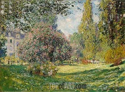 Landscape: The Parc Monceau, Paris, 1876 | Monet| Painting Reproduction