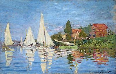 Regatta at Argenteuil, c.1872 | Monet| Painting Reproduction