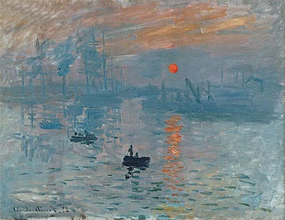 Impression, Sunrise (Soleil Levant), 1872 | Monet | Gemälde Reproduktion