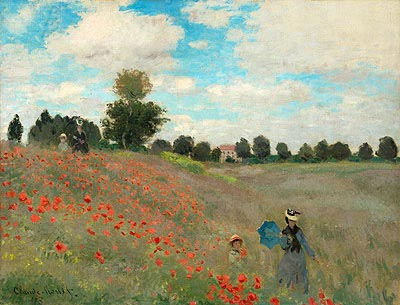 Poppies at Argenteuil, 1873 | Monet| Painting Reproduction