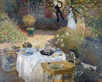 The Luncheon (Monet's Garden at Argenteuil), c.1873 | Monet| Painting Reproduction