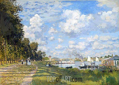 The Basin at Argenteuil, 1872 | Monet| Painting Reproduction
