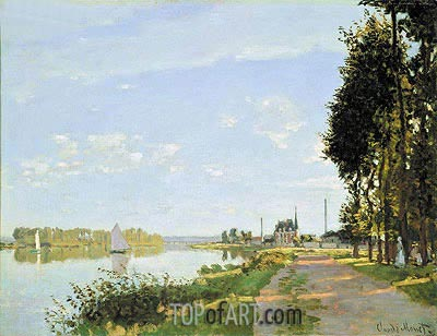 The Promenade at Argenteuil, c.1872 | Monet| Painting Reproduction