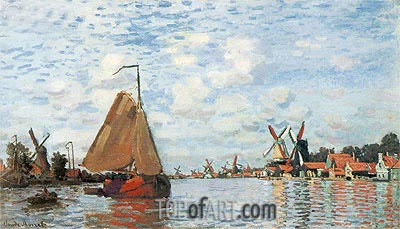 The Zaan at Zaandam, 1871 | Monet| Painting Reproduction