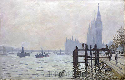 The Thames below Westminster, 1871 | Monet | Gemälde Reproduktion