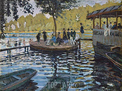 La Grenouillere, 1869 | Monet | Painting Reproduction