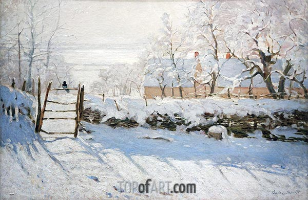 The Magpie, 1869 | Monet| Painting Reproduction