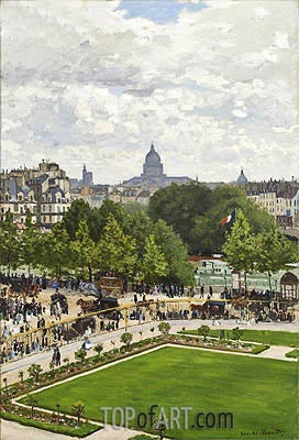 Garden of the Princess, Louvre, 1867 | Monet| Painting Reproduction
