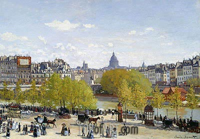 The Quai du Louvre, c.1866/67 | Monet| Gemälde Reproduktion