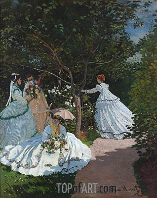 Women in the Garden, 1866 | Monet| Painting Reproduction