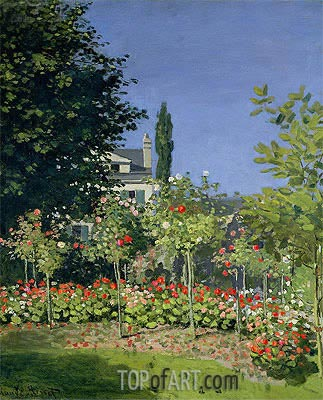 Flowering Garden at Sainte-Adresse, c.1866 | Monet| Painting Reproduction