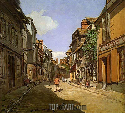 La Rue de La Bavolle at Honfleur, 1864 | Monet| Painting Reproduction
