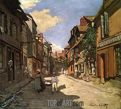 La Rue de La Bavolle at Honfleur, 1864 | Monet | Painting Reproduction