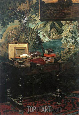 Corner of a Studio, 1861 | Monet | Painting Reproduction